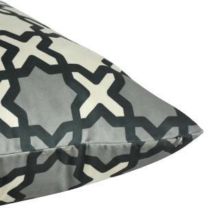 Almofada Arabesco Preta 45 x 45 Com Enchimento Veludo