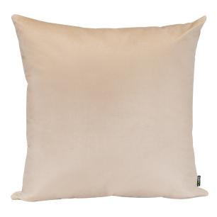 Almofada Decorativa Bege 45 x 45 Com Enchimento Veludo