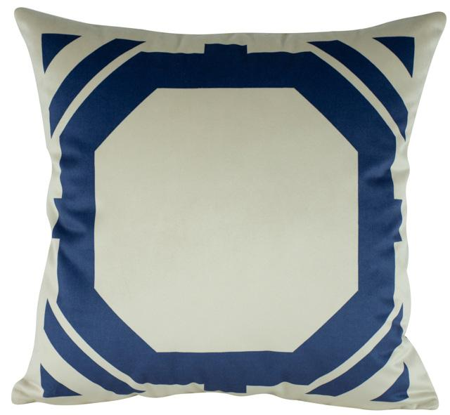 Almofada Geométrica Azul Veludo - 50x50