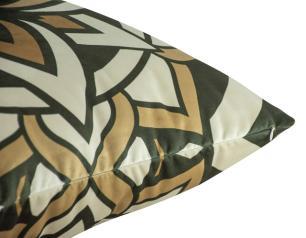 Almofada Geométrica Nude 45 x 45 Com Enchimento Veludo