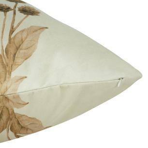 Almofada Floral Marrom 50 x 50 Com Enchimento Veludo