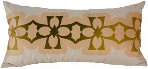 Jogo de Almofadas Arabesco Dourada-45 x 45-Com Enchimento-Poliéster