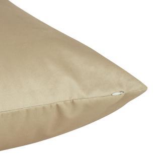 Almofada Bege Escuro 45 x 45 Com Enchimento Veludo