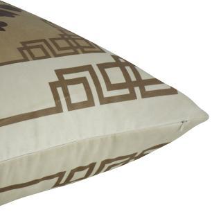 Almofada Arabesco Bege 45 x 45 Com Enchimento Veludo