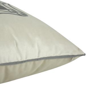 Almofada Arabesco Cinza 50 x 50 Com Enchimento Veludo