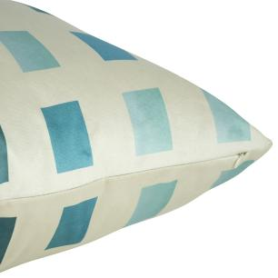 Almofada Arabesco Aqua 50 x 50 Com Enchimento Veludo