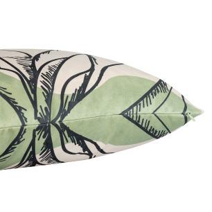 Almofada Decorativa Floral Escandinava 45 x 45 Com Enchimento Veludo