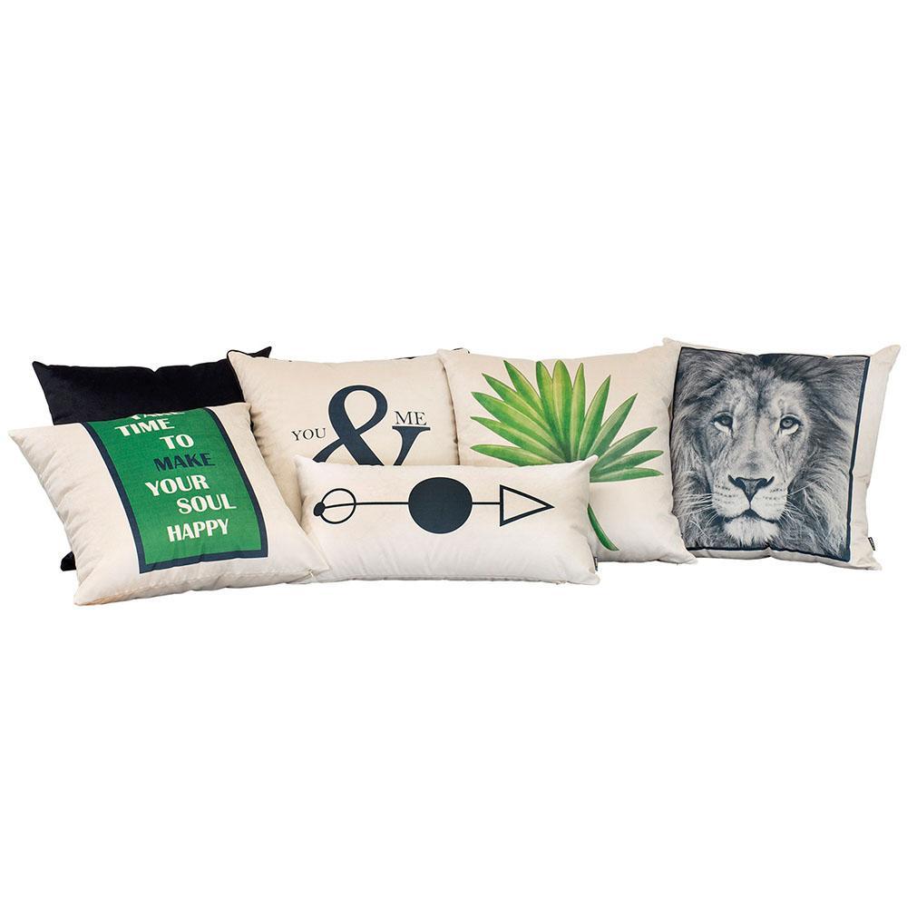Kit Almofadas Decorativas Escandinavas Verde 50 x 50 Com Enchimento Veludo