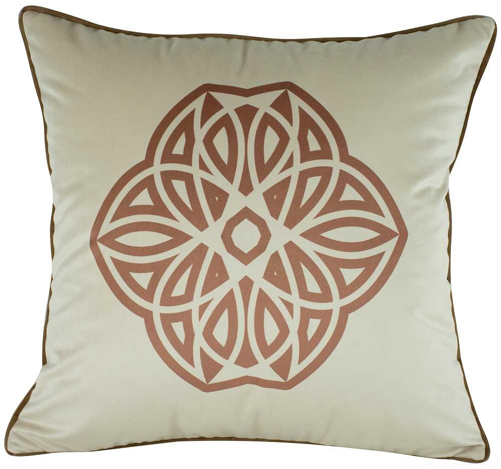 Almofada Mandala Rosa Gold 50x50 Com Enchimento Veludo