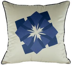 Almofada Geométrica Azul 45 x 45 Com Enchimento Veludo