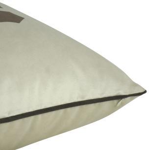 Almofada Arabesco Marrom 45 x 45 Com Enchimento Veludo