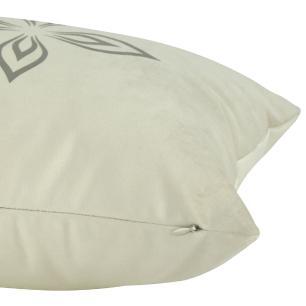 Almofada Arabesco Cinza 60 x 30 Com Enchimento Veludo