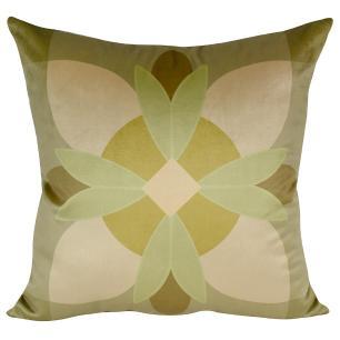 Almofada Decorativa Mosaico Verde 50 x 50 Com Enchimento Veludo