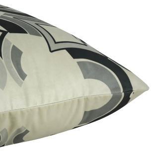 Almofada Arabesco Cinza 45 x 45 Com Enchimento Veludo