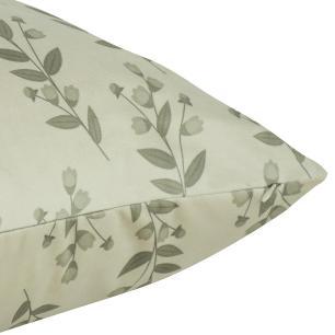 Almofada Floral Nude 50 x 50 Com Enchimento Veludo