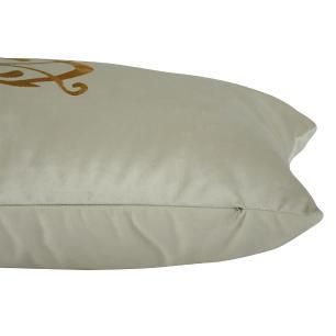 Almofada Bordada Terracota 60 x 30 Com Enchimento Veludo
