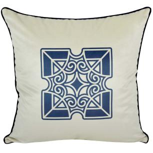 Almofada Mandala Azul 45 x 45 Com Enchimento Veludo