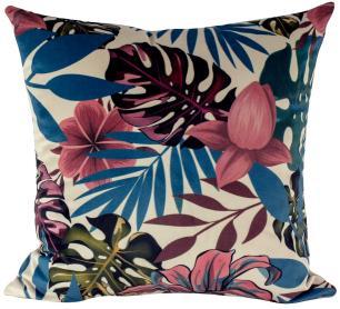 Jogo de Almofadas Mar de Flores-50 x 50-Com Enchimento-Veludo