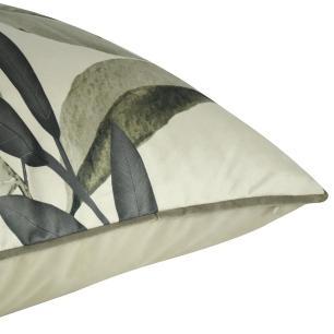 Almofada Decorativa Folhas Cinza 50 x 50 Com Enchimento Veludo