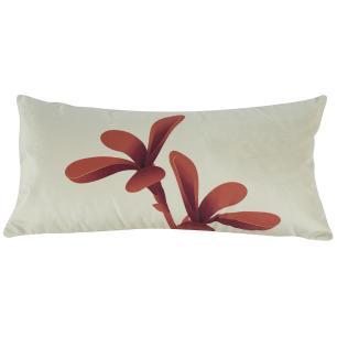 Jogo de Almofadas Floral Terracota 50 x 50 Com Enchimento Veludo