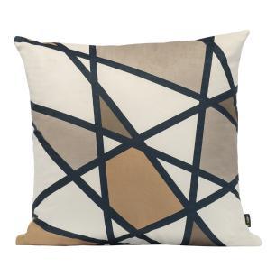 Almofada Decorativa Escandinava Geométrica 45 x 45 Com Enchimento Veludo
