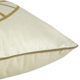 Almofada Arabesco Mostarda 50 x 50 Com Enchimento Veludo