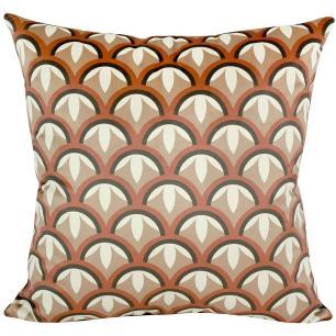 Almofada Decorativa Mosaico Marsala 50 x 50 Com Enchimento Veludo