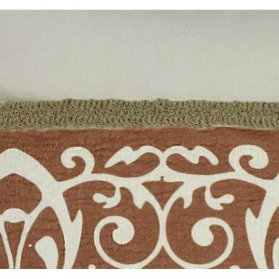 Almofada Bordada Terracota 50 x 50 Com Enchimento Veludo