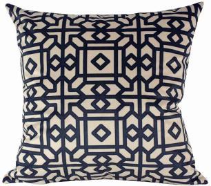 Almofada Arabesco Preto-50 x 50-Com Enchimento-Veludo
