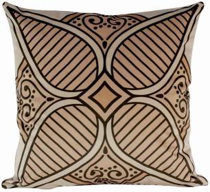 Almofada Arabesco Laranja-45 x 45-Sem Enchimento-Veludo