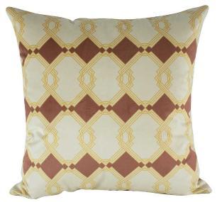 Almofada Arabesco Rose Gold 45 x 45 Com Enchimento Veludo
