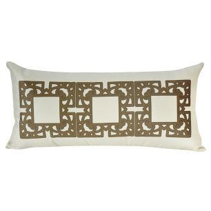 Almofada Decorativa Geométrica Marrom 60 x 30 Com Enchimento Veludo