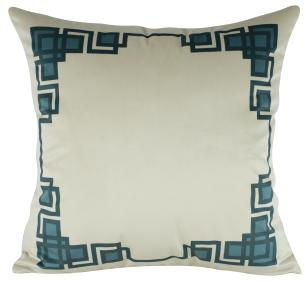 Almofada Geométrica Azul Tiffany-50 x 50-Com Enchimento-Veludo