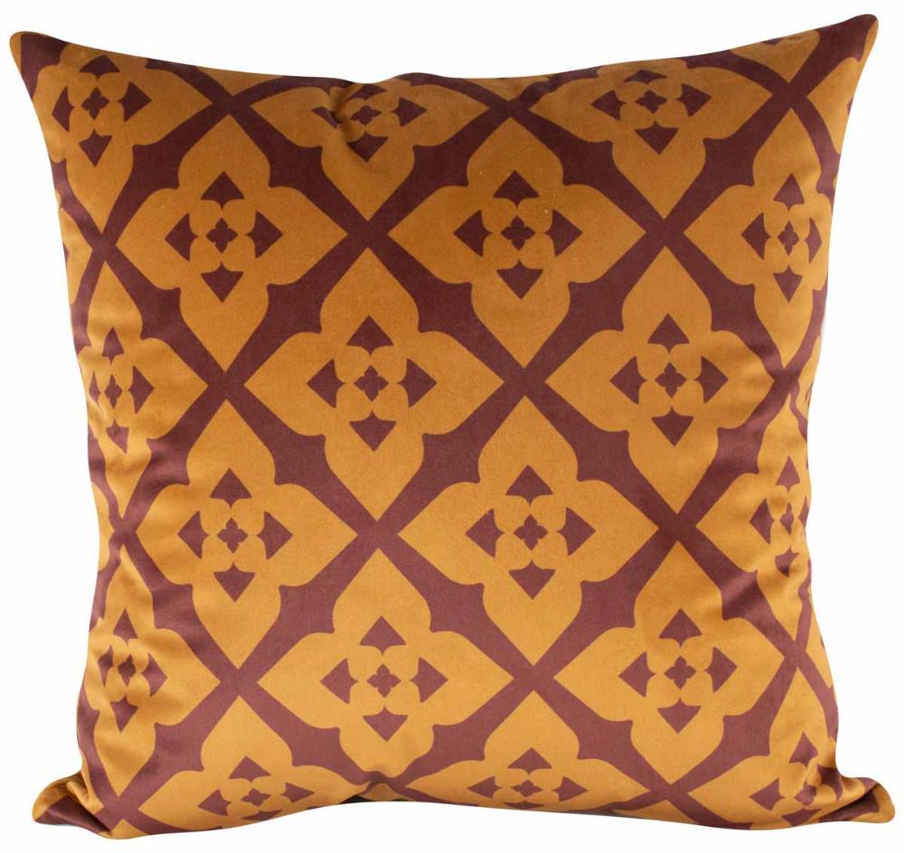 Almofada Arabesco Terracota 45 x 45 Com Enchimento Veludo