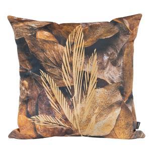 Almofada Decorativa Folhas Secas 45 x 45 Com Enchimento Veludo