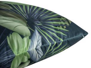 Almofada Floral Verde 50 x 50 Com Enchimento Veludo