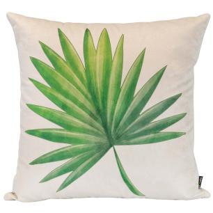 Almofada Decorativa Folha Verde 45 x 45 Com Enchimento Veludo