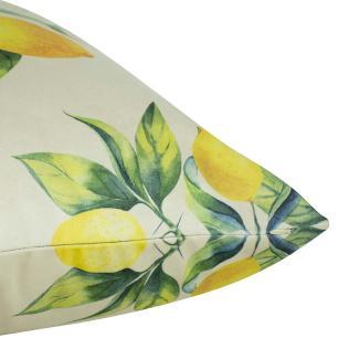 Almofada Limão Amarelo 50 x 50 Com Enchimento Veludo