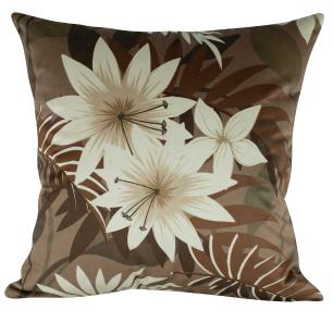 Almofada Floral Nude 45 x 45 Com Enchimento Veludo