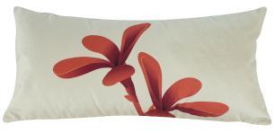 Almofada Floral Terracota 60 x 30 Com Enchimento Veludo