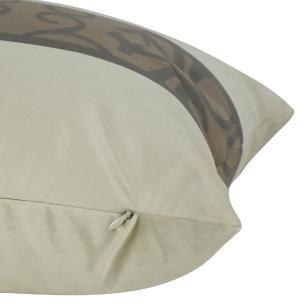 Almofada Arabesco Marrom 60 x 30 Com Enchimento Veludo