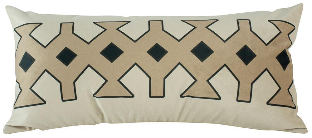 Almofada Arabesco Nude 60 x 30 Com Enchimento Veludo