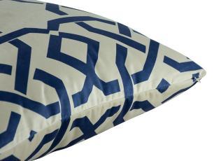 Almofada Geométrica Azul 50x50 Com Enchimento Veludo