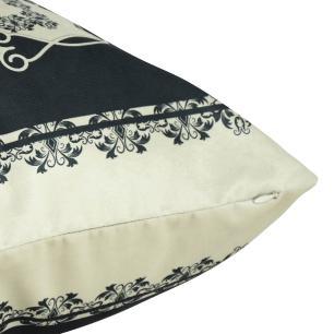 Almofada Arabesco Preto 45 x 45 Com Enchimento Veludo