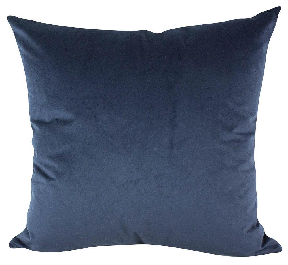 Almofada Azul 50 x 50 Com Enchimento Veludo