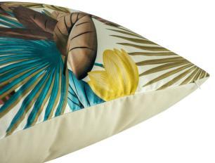 Almofada Floral 45 x 45 Com Enchimento Veludo