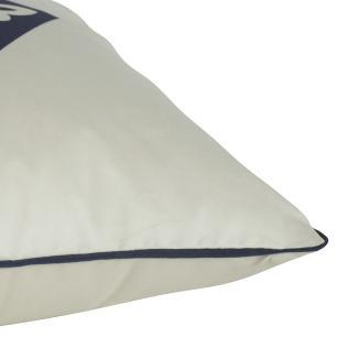 Almofada Formas Azul Marinho 45 x 45 Com Enchimento Veludo