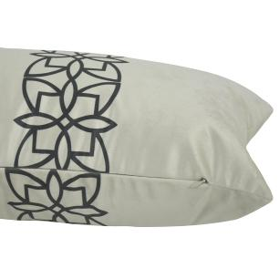Almofada Arabesco Preta 60 x 30 Com Enchimento Veludo