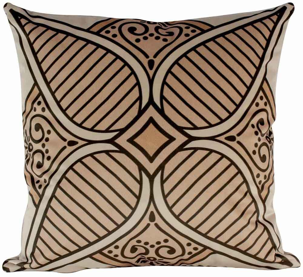 Almofada Arabesco Laranja-50 x 50-Com Enchimento-Poliester com Algodao