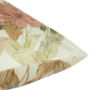 Almofada Floral Amarela Com Enchimento 50 x 50 Veludo